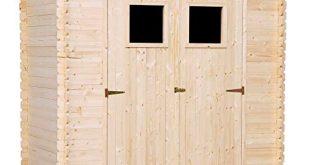 TIMBELA M311 Gartenhaus aus 19 mm Kiefern Fichtenholz 310x165 - TIMBELA M311 Gartenhaus - aus 19 mm Kiefern- / Fichtenholz Blockbohlen - Flachdach - 200 x 130 cm, 2.22 m² (ohne Fußboden)