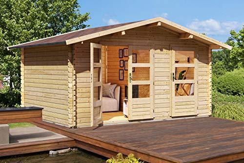 Unbekannt Karibu Woodfeeling Gartenhaus Radur 1 28 mm 2-Raum-Haus