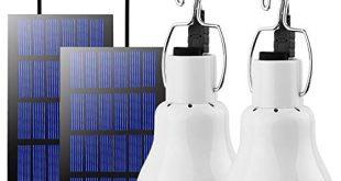 Beinhome LED Gluehbirne Solarlampen fuer AussenSolarbetriebene Led Laterne Lampe Solarleuchten 310x165 - Beinhome LED Glühbirne Solarlampen für Außen,Solarbetriebene Led Laterne Lampe Solarleuchten mit Solarpanel Licht Birne 3W,Solar Beleuchtung für Außen,Innen,Camping,Wandern,Angeln,Gartenhaus 2 Stück
